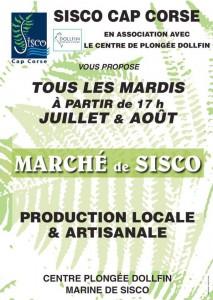 Marché de Sisco – Juillet et Août , chaque mardi dès 17h00.